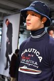 A model poses at the Nautica Fall 2017 presentation Royalty Free Stock Image