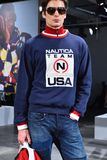 A model poses at the Nautica Fall 2017 presentation Stock Photos