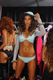 A model posing backstage at the Beach Bunny fashion show during MBFW Swim 2015 Royalty Free Stock Photo