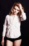 Model is posing. Beautiful model is posing. Studio shoot Royalty Free Stock Images