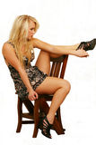 Model posing with heels Stock Photography