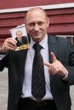 Model posing like Vladimir Putin. Moscow, Russia Stock Image