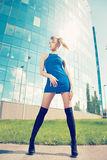 Model posing outside on high heels Stock Photography