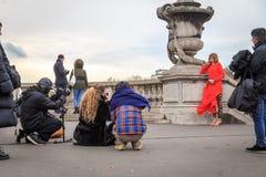 Paris photoshoot Stock Images