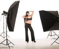 Model posing in studio Royalty Free Stock Photo