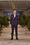 Model pozuje być ubranym Nick Graham podczas Nowy Jork mody tygodnia mężczyzna spadku, zimy/2016 Zdjęcie Royalty Free