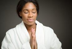 Model  praying Stock Photography