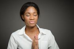 Model  praying Royalty Free Stock Photo