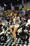 Model presented big bike Stock Photos