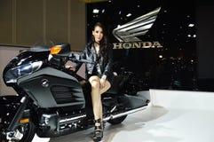 Model presented Honda big bike Stock Photo