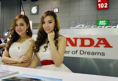 Model presented Honda Royalty Free Stock Photos