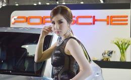 Model presented Porsche Stock Photos