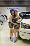 Model presented Ssanyong motor Stock Photo