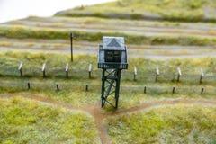 Model of prison guard tower, photograph taken from inside the prison. Model of prison guard tower, photograph taken from ine the prison royalty free stock photos