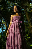 Model in Purple dress Royalty Free Stock Photos