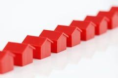 model rad för hus Arkivfoton