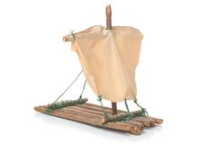 Model of the raft. On white Royalty Free Stock Photo