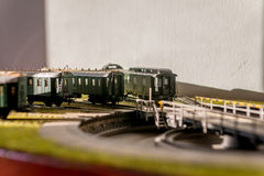 Model railroad passenger cars CSD Stock Image