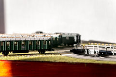 Model railroad passenger cars CSD Royalty Free Stock Photography