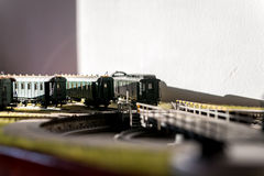 Model railroad passenger cars CSD Royalty Free Stock Image
