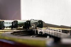 Model railroad passenger cars CSD Royalty Free Stock Image
