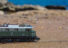 Model railroad PIKO, E44 electric locomotive Royalty Free Stock Image