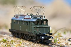 Model railroad PIKO, E44 electric locomotive Stock Image