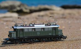 Model railroad PIKO, E44 electric locomotive Royalty Free Stock Photography