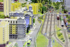 Model of railroad station. Stock Image