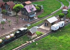Model Railroad Town. Example or idea for model railroads Royalty Free Stock Images