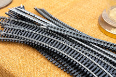 Model railroad tracks Royalty Free Stock Photos