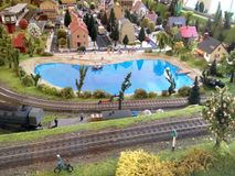 Model railroad Royalty Free Stock Photography