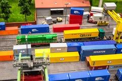 Model of railway cargo station Stock Photo