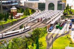 Model of railway Stock Photos