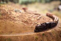 Model railway train Royalty Free Stock Image