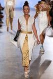 Model Rebekah Marine walks Anna's Loud runway at the FTL Moda Spring 2016 royalty free stock photography