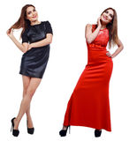 Model with red and black dress Royalty Free Stock Photography
