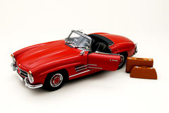 Model of a red classic car Royalty Free Stock Photos