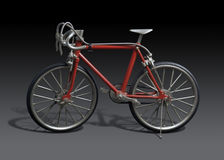 Model of a red framed bicycle Stock Photo