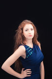 Model with red hair stock images