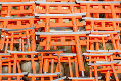 Model of Red Japanese Gates Royalty Free Stock Photography