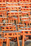 Model of Red Japanese Gates Stock Photo