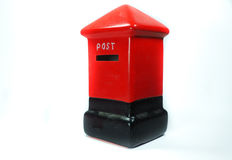 Model red post box Royalty Free Stock Image