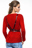 Model in red sweater Stock Photo