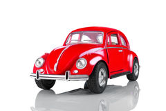 Model of the red toy car. Royalty Free Stock Image