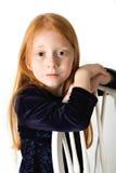 model redheaden Arkivfoton