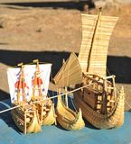 Model reed boats Royalty Free Stock Photography