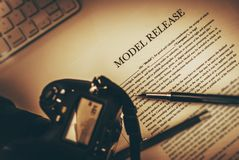 Model Release Document Royalty Free Stock Photography