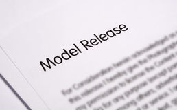 Model release document Stock Image