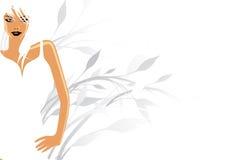 model ren white royaltyfri illustrationer